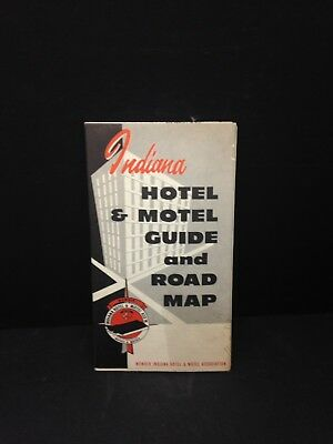 Indiana Hotel And Motel Guide And Road Map, 1960's
