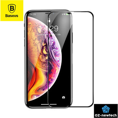 iPhone X Screen Protector True Full Cover Screen Tempered Glass *Baseus2018 New*