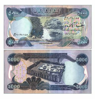 100,000 NEW CRISP IRAQI DINAR UNCIRCULATED SERIAL NUMBERED 20 x 5,000 5000 IQD