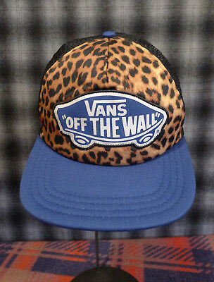 00c41294fd2 VANS Off the Wall Leopard Print Mesh Trucker Adjustable Snapback Hat Cap  Skate