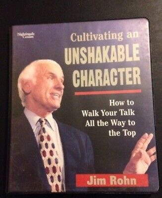 Personal development everything else picclick jim rohn 7 audio cassettes cultivating an unshakable character malvernweather Choice Image