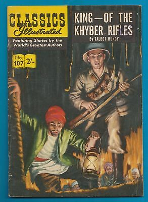 Classics Illustrated Comic Book King of the Khyber Rifles # 107   #314