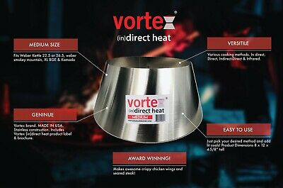 BBQ Vortex ™ Weber Kettle 22 26.75 WSM smokey mountain Med Kamado Big Green Egg
