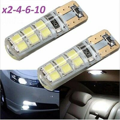 matricula posicion Car Bulbs 2//4//10 Bombillas T10 LED 5050 5SMD 5W5 DC12V