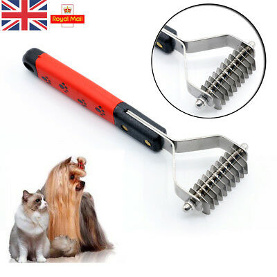 Pet Dog Cat Dematting Grooming Deshedding Trimmer Tool Hair Fur Comb Brush Rake
