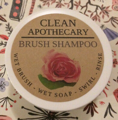 GENUINE Clean Apothecary Rose Brush Shampoo New Cleanser Vegan Makeup Brushes