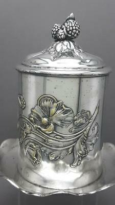 Stunning Antique Art Noveau W.m.f. Silver Plated Biscuit Barrel