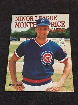 1989 Huston's Baseball Monthly Minor League Price Guide Mark Grace Cubs on Cover