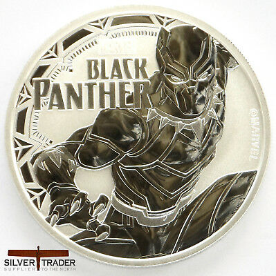 2018 1oz Black Panther Marvel Series 1 ounce Silver Bullion Coin unc: