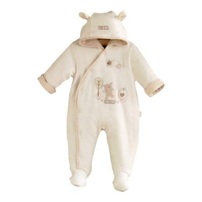 Natures Purest Hug me Snowsuit Teddy Bear Design 0-3 Months (7080A)