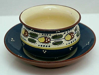 ALLER VALE Torquay Pottery LADYBIRD Pattern Dish and Stand FULLY MARKED