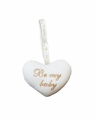 Natures Purest Pure Love 'Be My Baby' Hanging Heart Decoration  (0185)