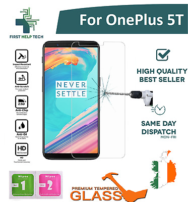 For OnePlus 5T Premium Tempered Glass Screen Protector Guard Film