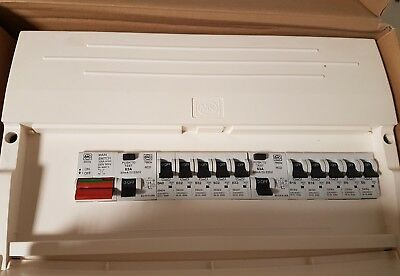 MK fully loaded distribution board boxed and new