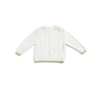 Natures Purest Kids Cable Knit Jumper 12 Months  (0177B)