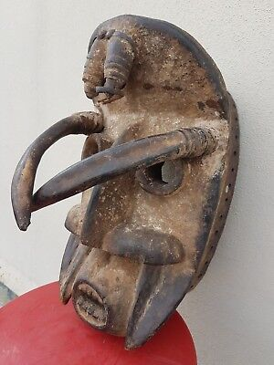 "African Bete ""Spider"" mask. Ivory Coast. genuine tribal example."