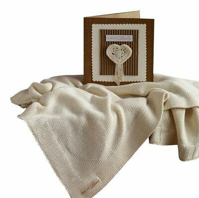 Natures Purest Pure Love Bamboo Heart Greeting Blanket 60x80cm (9063)