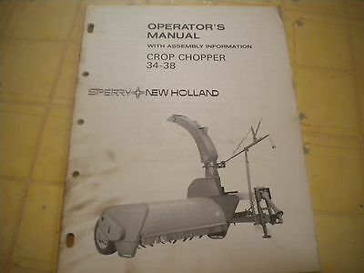 new holland 34 38 crop chopper operators manual