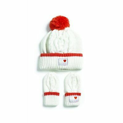 Nature's Purest My First Friend Cable Knit Hat & Mitts  (0230)