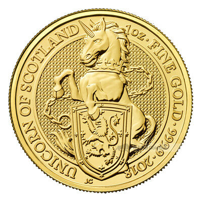 1 oz 2018 Royal Mint Queen's Beasts | Unicorn of Scotland Gold Coin