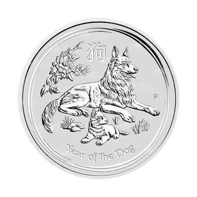1/2 oz 2018 Perth Mint Lunar Year of the Dog Silver Coin
