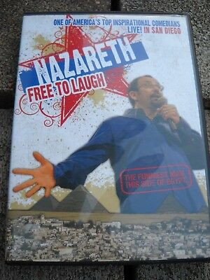 """Nazareth, Free to Laugh Inspirational Comedy """"Live in San Diego"""" 2007 DVD"""