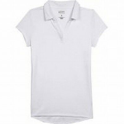 George Junior Girls Uniform Short Sleeve Polo Shirt Sz 1 XS White NWOT FS