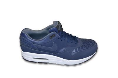 official photos cae3a c1bac Mens Nike Air Max 1 Woven - 725232 400 - Midnight Navy Black Trainers