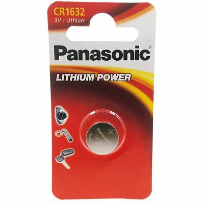 1 x Panasonic 1632 DL1632 CR1632 ECR1632 3v Batteries Coin Cell Long Expiry Date