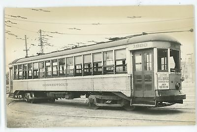 RPPC Connecticut Co Trolley NEW HAVEN CT Vintage Real Photo Postcard 2