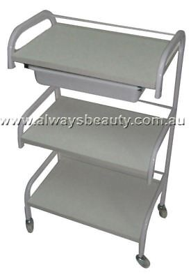 Beauty Salon Trolley Spa Waxing Trolley White Frame With One Tray Aussie Seller