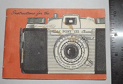 Instruction Book for Kodak 135 Pony Camera Good Condition 25 Pages Intact
