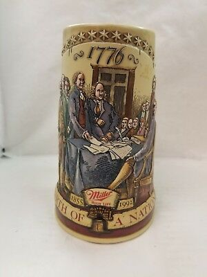 "Miller High Life, ""birth Of A Nation"" 1855-1992 Stein/mug, Second In A Series"