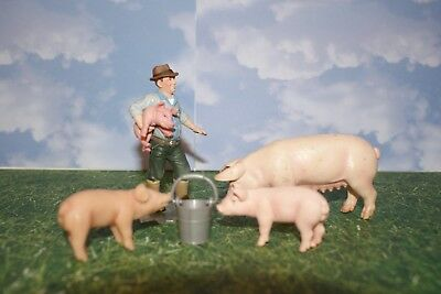 Schleich Farmer with Bucket with Adult Female Pig & Piglets from Farm Series