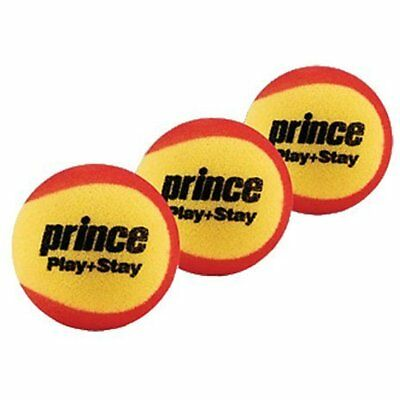 Prince Play & Stay Stage 3 Foam Tennis Balls (3 Per Pack)