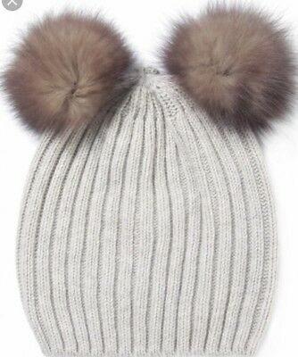 98b1ae92075 HELENE BERMAN BEANIE Hat Studded Ears Gray Womens Wool One Size ...