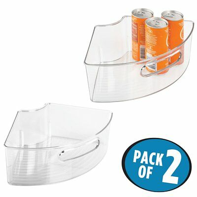 Mdesign Lazy Susan Wire Storage Basket With Handle For Kitchen