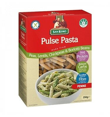 San Remo Green Pea Penne Pulse 250gm x 12