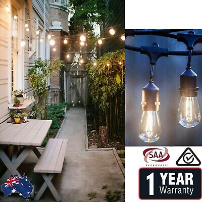 10M 20M Festoon String Lights Vintage Retro Wedding Party Kit LED Filament bulb