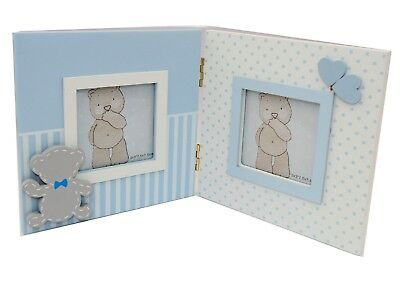 Baby Boy Double  Photo Picture Frame Newborn Baby shower  Boy Gift