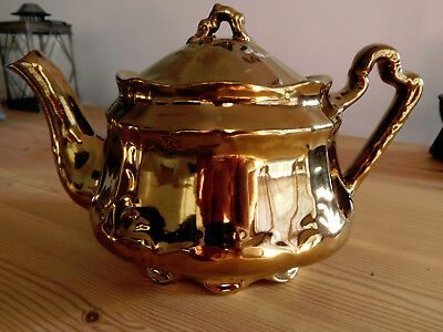 Antique Arthur Wood Gold Tea Pot - England - #4306