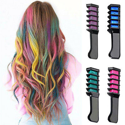 Cosplay Party Hairs Dyeing Temporary Hair Chalk Color Comb Dye Kits Disposable