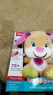 Fisher-Price Laugh and Learn Smart Stages Sis Puppy Dog Interactive Plush Toy