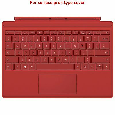 Genuine Red With Backlit Type Cover and Keyboard For Microsoft Surface Pro 4 AU