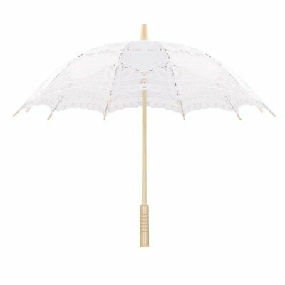 Sweetme Lace Parasol for Bridal Bridesmaid Vintage Wedding Umbrella Party 30""