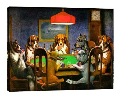Eliteart-Dogs Playing Poker by Cassius Marcellus Coolidge Oil Painting