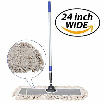 """JINCLEAN 24"""" Industrial Class Cotton Floor Mop   Dry to Attract dirt, dust Or"""