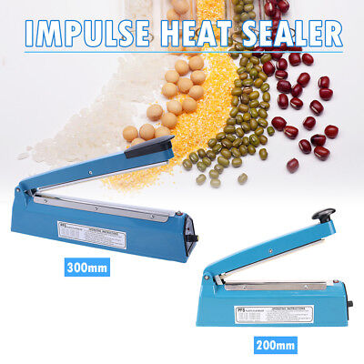 Impulse Heat Sealer Poly Bag Electric Plastic Sealing Machine 300mm/400mm AU