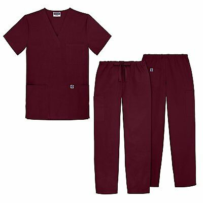 Sivvan Unisex Classic Scrub Set V-neck Top / Drawstring Pants Available in 12 S