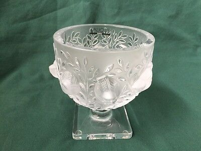 Lalique Elizabeth Vase Numbered And Mint Condition 69900